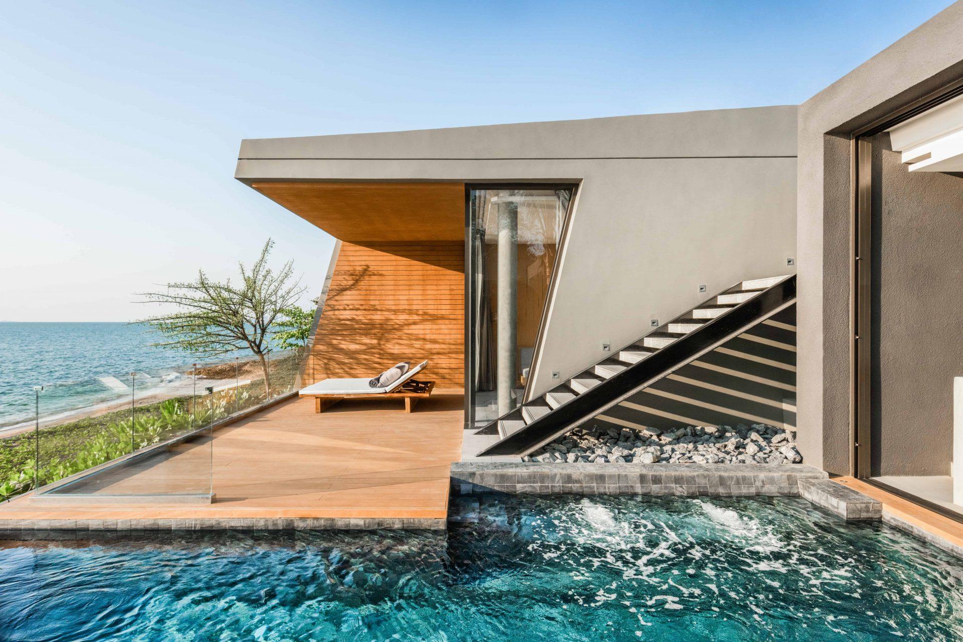 Beachfront swimming pool at Mason Pattaya
